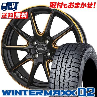 175/60R16 DUNLOP ダンロップ WINTER MAXX 02 WM02 ウインターマックス 02 CROSS SPEED PREMIUM RS10 クロススピード プレミアム RS10 スタッドレスタイヤホイール4本セット