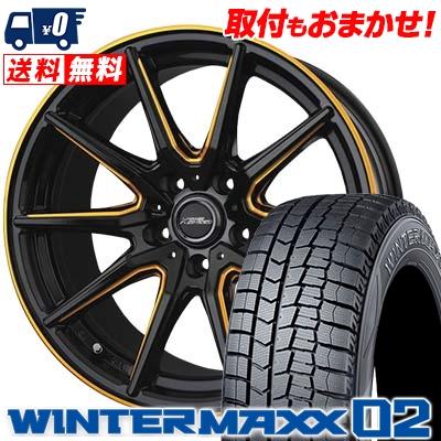 215/60R17 96Q DUNLOP ダンロップ WINTER MAXX 02 WM02 ウインターマックス 02 CROSS SPEED PREMIUM RS10 クロススピード プレミアム RS10 スタッドレスタイヤホイール4本セット