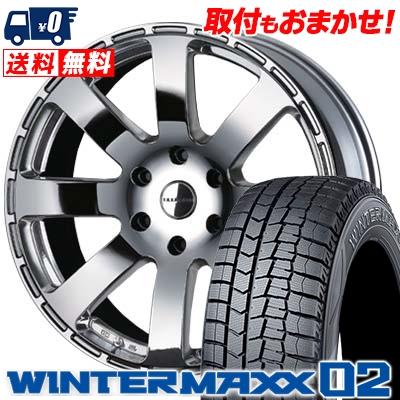 215/60R17 DUNLOP ダンロップ WINTER MAXX 02 WM02 ウインターマックス 02 Reverson R8 レベルソン R8 スタッドレスタイヤホイール4本セット