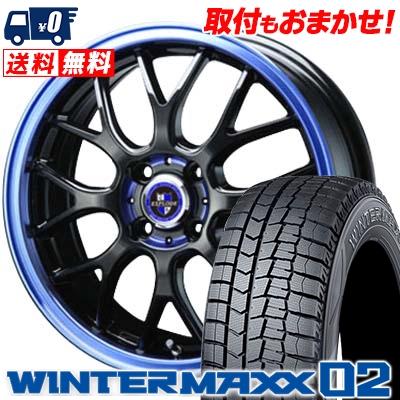 165/55R15 DUNLOP ダンロップ WINTER MAXX 02 WM02 ウインターマックス 02 EXPLODE RBM エクスプラウド RBM スタッドレスタイヤホイール4本セット