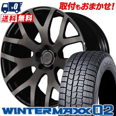245/40R19 DUNLOP ダンロップ WINTER MAXX 02 WM02 ウインターマックス 02 RAYS WALTZ FORGED S7 レイズ ヴァルツ フォージド S7 スタッドレスタイヤホイール4本セット