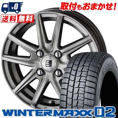195/55R15 85Q DUNLOP ダンロップ WINTER MAXX 02 WM02 ウインターマックス 02 SEIN SS ザイン エスエス スタッドレスタイヤホイール4本セット