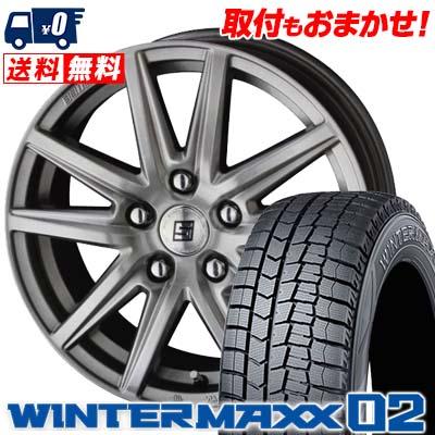 215/50R17 91Q DUNLOP ダンロップ WINTER MAXX 02 WM02 ウインターマックス 02 SEIN SS ザイン エスエス スタッドレスタイヤホイール4本セット