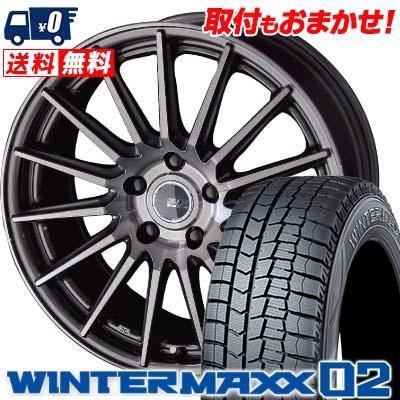 245/40R19 DUNLOP ダンロップ WINTER MAXX 02 WM02 ウインターマックス 02 STEINER FORCED SERIES SF-X シュタイナー フォースドシリーズ SF-X スタッドレスタイヤホイール4本セット