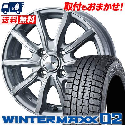 185/65R15 88Q DUNLOP ダンロップ WINTER MAXX 02 WM02 ウインターマックス 02 JOKER SHAKE ジョーカー シェイク スタッドレスタイヤホイール4本セット