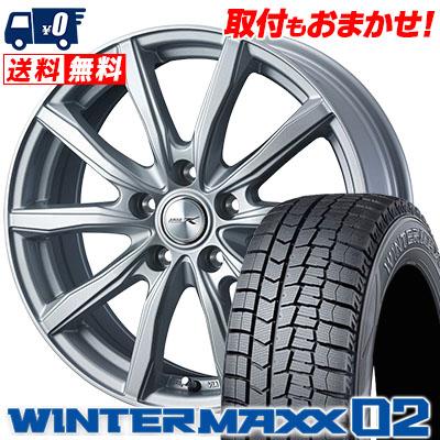 205/65R15 94Q DUNLOP ダンロップ WINTER MAXX 02 WM02 ウインターマックス 02 JOKER SHAKE ジョーカー シェイク スタッドレスタイヤホイール4本セット