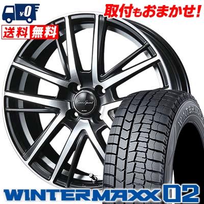 145/65R15 DUNLOP ダンロップ WINTER MAXX 02 WM02 ウインターマックス 02 EouroSport Shandry SE ユーロスポーツ シャンドリーSE スタッドレスタイヤホイール4本セット
