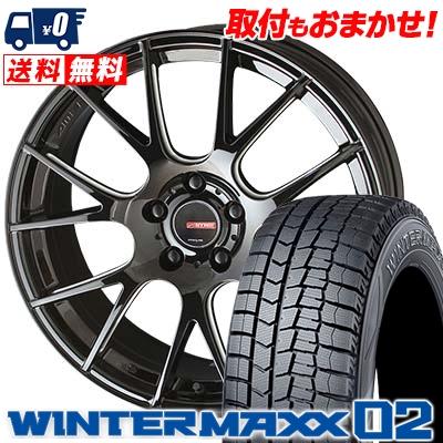 215/50R17 DUNLOP ダンロップ WINTER MAXX 02 WM02 ウインターマックス 02 CIRCLAR RM-7 サーキュラー RM-7 スタッドレスタイヤホイール4本セット