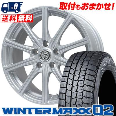 195/65R15 91Q DUNLOP ダンロップ WINTER MAXX 02 WM02 ウインターマックス 02 TRG-SS10 TRG SS10 スタッドレスタイヤホイール4本セット