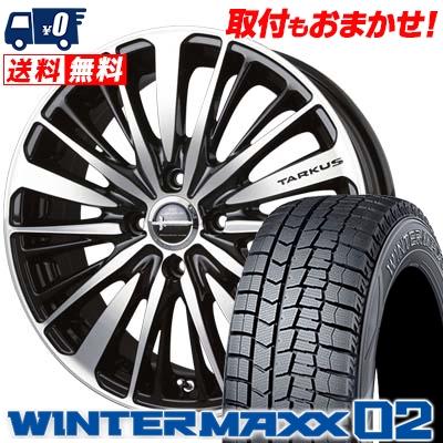 195/50R16 DUNLOP ダンロップ WINTER MAXX 02 WM02 ウインターマックス 02 BADX LOXARNY TARKUS バドックス ロクサーニ タルカス スタッドレスタイヤホイール4本セット