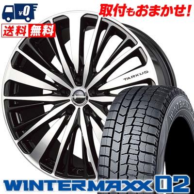 215/50R17 DUNLOP ダンロップ WINTER MAXX 02 WM02 ウインターマックス 02 BADX LOXARNY TARKUS バドックス ロクサーニ タルカス スタッドレスタイヤホイール4本セット