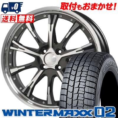 195/50R16 DUNLOP ダンロップ WINTER MAXX 02 WM02 ウインターマックス 02 Cliff Climb TC-02 クリフクライム TC02 スタッドレスタイヤホイール4本セット
