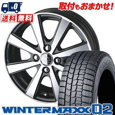 165/65R13 DUNLOP ダンロップ WINTER MAXX 02 WM02 ウインターマックス 02 SMACK VIR スマック VI-R スタッドレスタイヤホイール4本セット