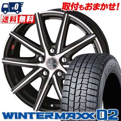 205/50R17 89Q DUNLOP ダンロップ WINTER MAXX 02 WM02 ウインターマックス 02 SMACK PRIME SERIES VANISH スマック プライムシリーズ ヴァニッシュ スタッドレスタイヤホイール4本セット