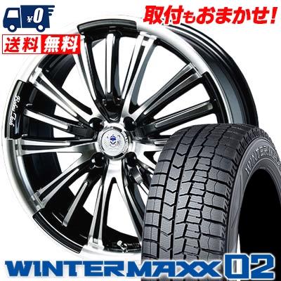 165/60R15 DUNLOP ダンロップ WINTER MAXX 02 WM02 ウインターマックス 02 BAHNS TECK VR-01 バーンズテック VR01 スタッドレスタイヤホイール4本セット