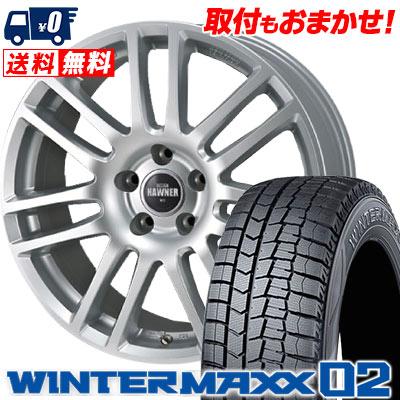 215/50R17 91Q DUNLOP ダンロップ WINTER MAXX 02 WM02 ウインターマックス 02 HAWNERW07 ハウナーW07 スタッドレスタイヤホイール4本セット 【For VW】