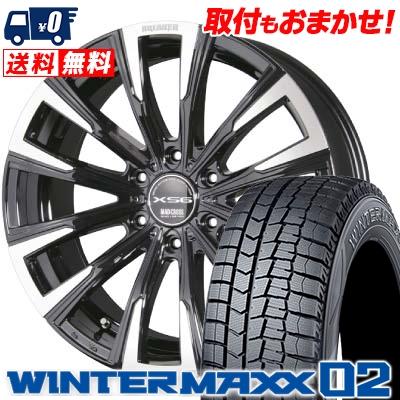 215/65R16 98Q DUNLOP ダンロップ WINTER MAXX 02 ウインターマックス 02 MAD CROSS BREAKER XS6 マッドクロス ブレイカー XS6 スタッドレスタイヤホイール4本セット