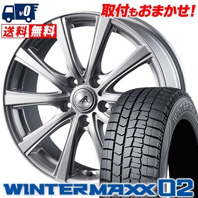 235/45R18 DUNLOP ダンロップ WINTER MAXX 02 WM02 ウインターマックス 02 AZ sports YL-10 AZスポーツ YL-10 スタッドレスタイヤホイール4本セット