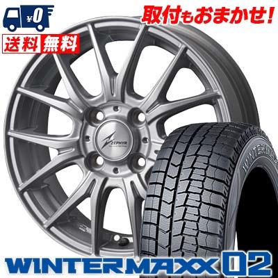 165/70R14 DUNLOP ダンロップ WINTER MAXX 02 WM02 ウインターマックス 02 ZEPHYR M2 ゼファー M2 スタッドレスタイヤホイール4本セット