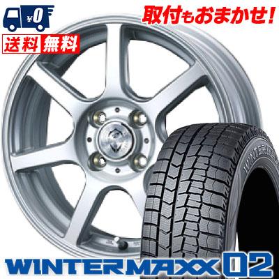 165/65R13 DUNLOP ダンロップ WINTER MAXX 02 WM02 ウインターマックス 02 Treffer ZR トレファーZR スタッドレスタイヤホイール4本セット