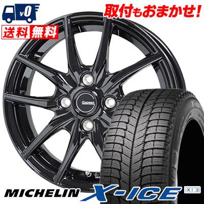 185/60R14 MICHELIN ミシュラン X-ICE XI3 エックスアイス XI-3 G.speed G-02 Gスピード G-02 スタッドレスタイヤホイール4本セット