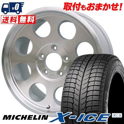 225/60R16 MICHELIN ミシュラン X-ICE XI3 エックスアイス XI-3 JIMLINE TYPE2 ジムライン タイプ2 スタッドレスタイヤホイール4本セット