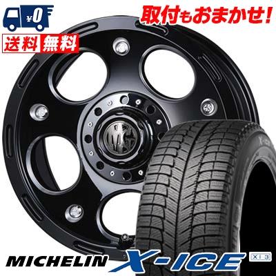 16インチ MICHELIN ミシュラン X-ICE XI3 エックスアイス XI-3 235 60 DEMON 16 2020A W新作送料無料 235-60-16 スタッドレスタイヤホイール4本セット MG スタッドレスホイールセット 60R16 デーモン 国産品 取付対象