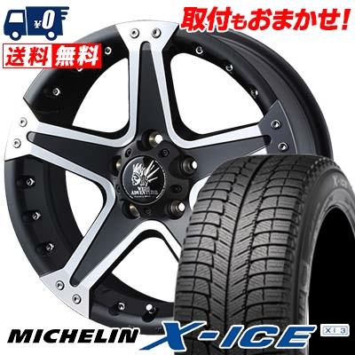 225/60R16 MICHELIN ミシュラン X-ICE XI3 エックスアイス XI-3 MUD VANCE01 マッドヴァンス01 スタッドレスタイヤホイール4本セット
