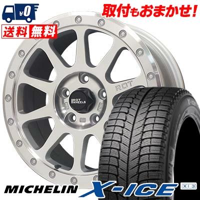 225/60R16 MICHELIN ミシュラン X-ICE XI3 エックスアイス XI-3 THE ROT WHEELS RO401 THE ROTホイール RO401 スタッドレスタイヤホイール4本セット