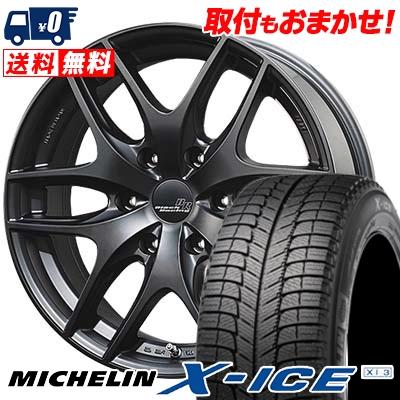 225/50R18 MICHELIN ミシュラン X-ICE XI3 エックスアイス XI-3 TWS Black Racing VS1 TWS ブラックレーシング・VS1 スタッドレスタイヤホイール4本セット