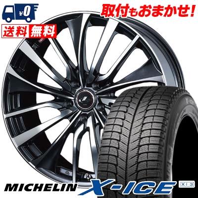 245/45R19 MICHELIN ミシュラン X-ICE XI3 エックスアイス XI-3 weds LEONIS VT ウエッズ レオニス VT スタッドレスタイヤホイール4本セット