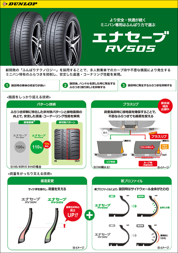 225/50R17 98V XL DUNLOP ダンロップ ENASAVE RV505 エナセーブ RV505 VOLTEC HYPER MS-7 ボルテック ハイパー MS-7 サマータイヤホイール4本セット