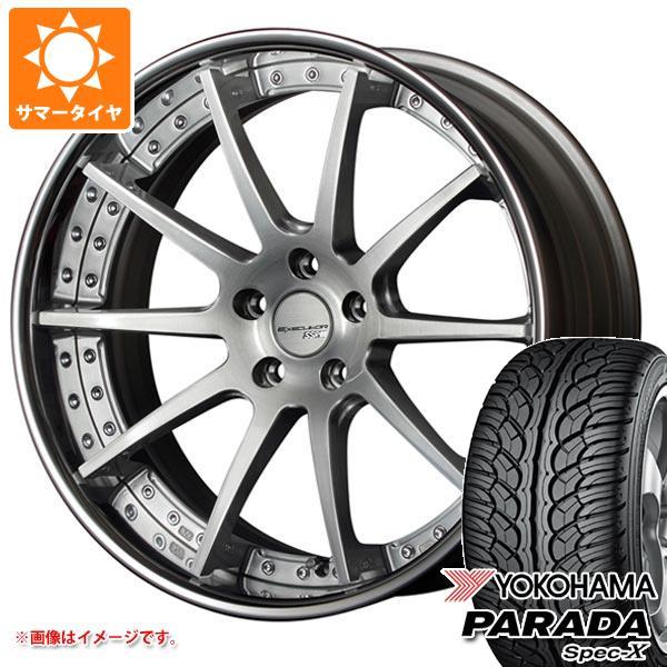 サマータイヤ 235/55R20 102V ヨコハマ パラダ スペック-X PA02 SSR エグゼキューター CV01 8.0-20 タイヤホイール4本セット