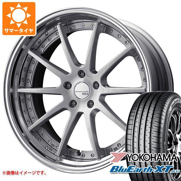 サマータイヤ 235/55R20 102V ヨコハマ ブルーアースXT AE61 SSR エグゼキューター CV01S 8.0-20 タイヤホイール4本セット