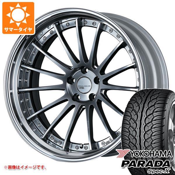 サマータイヤ 235/55R20 102V ヨコハマ パラダ スペック-X PA02 SSR エグゼキューター CV04S 8.0-20 タイヤホイール4本セット