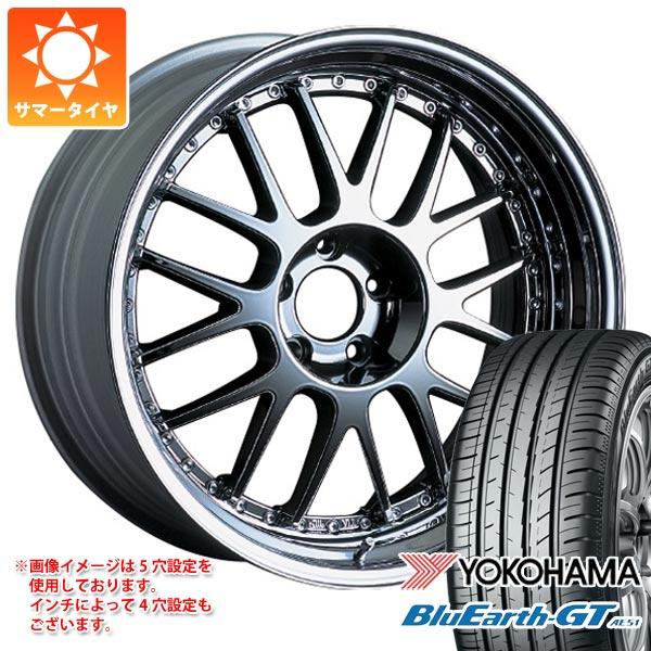サマータイヤ 225/40R19 93W XL ヨコハマ ブルーアースGT AE51 SSR プロフェッサー MS1 8.0-19 タイヤホイール4本セット