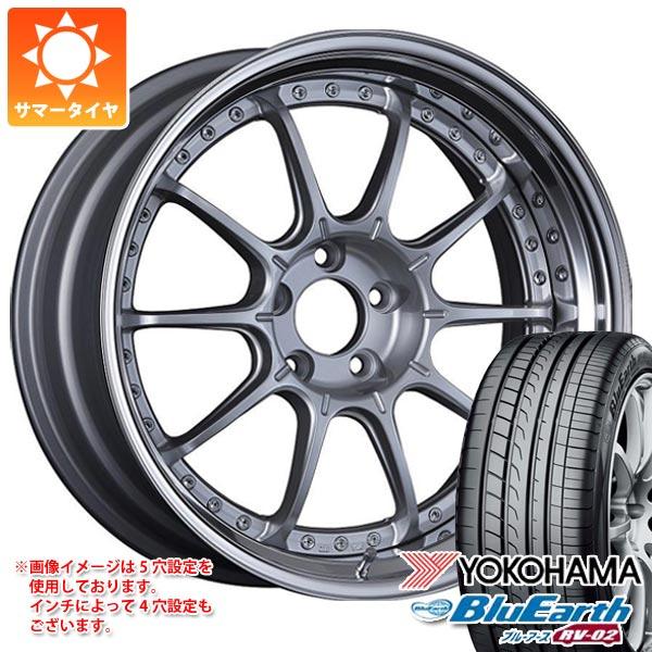 2020年製 サマータイヤ 245/45R19 98W ヨコハマ ブルーアース RV-02 SSR プロフェッサー SP5 8.0-19 タイヤホイール4本セット