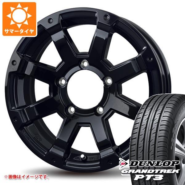 サマータイヤ 175/80R16 91S ダンロップ グラントレック PT3 バドックス ロックケリー MX-1 ジムニー専用 5.5-16 タイヤホイール4本セット