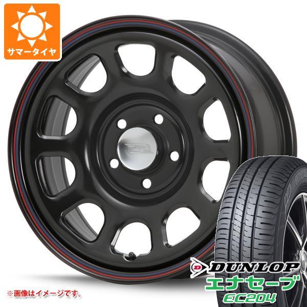 サマータイヤ 215/65R16 98H ダンロップ エナセーブ EC204 デイトナ SS ブラック 新型デリカD5対応 7.0-16 タイヤホイール4本セット