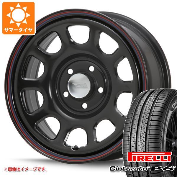 正規品 サマータイヤ 215/65R16 98H ピレリ チントゥラート P6 デイトナ SS ブラック 新型デリカD5対応 7.0-16 タイヤホイール4本セット
