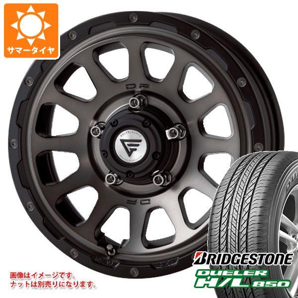ジムニーシエラ専用 サマータイヤ ブリヂストン デューラー H/L850 215/70R16 100H デルタフォース オーバル タイヤホイール4本セット