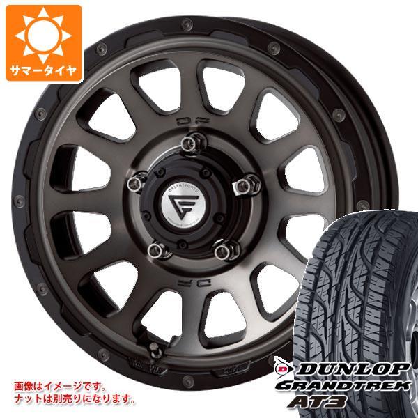 ジムニーシエラ専用 サマータイヤ ダンロップ グラントレック AT3 215/70R16 100S ブラックレター デルタフォース オーバル タイヤホイール4本セット