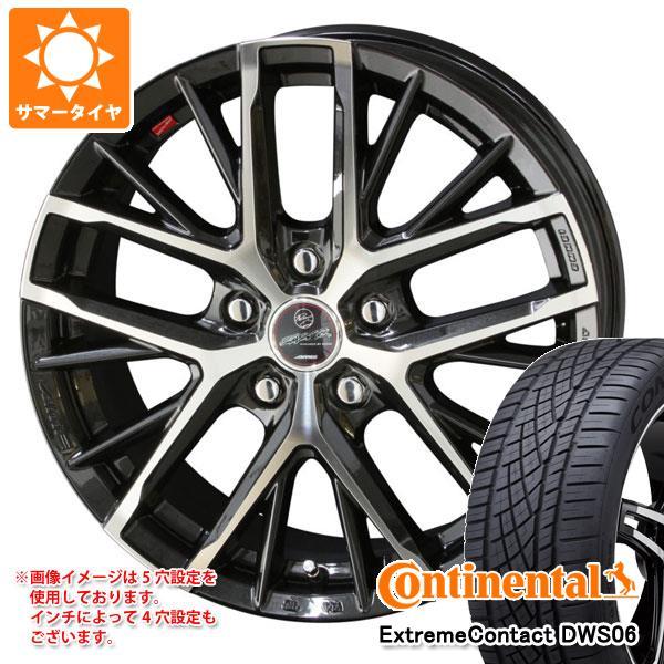 正規品 サマータイヤ 205/55R16 91W コンチネンタル エクストリームコンタクト DWS06 スマック レヴィラ 6.5-16 タイヤホイール4本セット