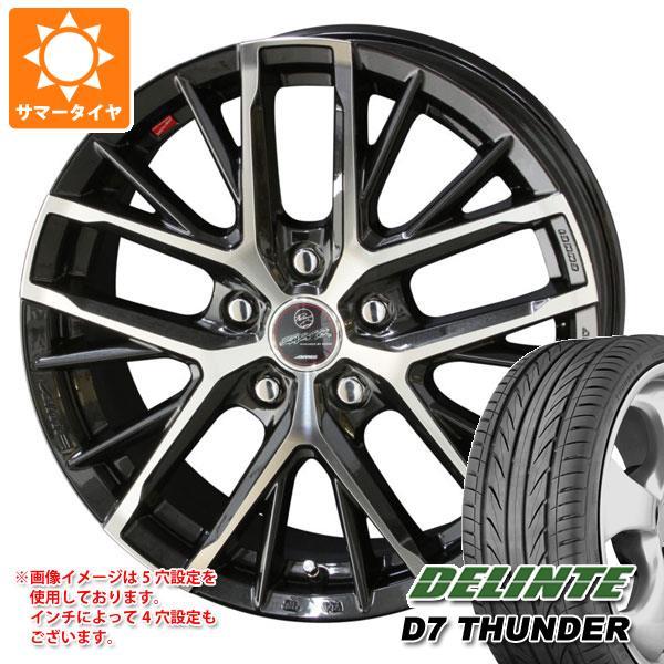 サマータイヤ 205/50R17 93W XL デリンテ D7 サンダー スマック レヴィラ 7.0-17 タイヤホイール4本セット
