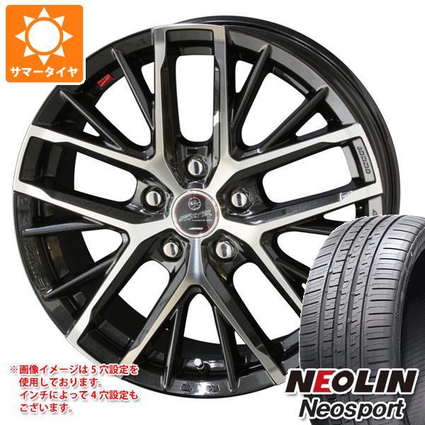 サマータイヤ 225/55R17 101W XL ネオリン ネオスポーツ スマック レヴィラ 7.0-17 タイヤホイール4本セット