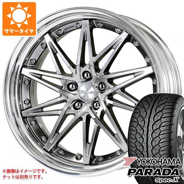 サマータイヤ 245/45R20 99V ヨコハマ パラダ スペック-X PA02 シュヴァート SG1 8.5-20 タイヤホイール4本セット