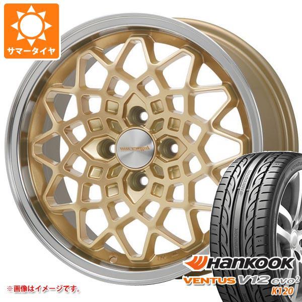 サマータイヤ 195/50R15 82V ハンコック ベンタス V12evo2 K120 ハイペリオン カルマ GD 7.0-15 タイヤホイール4本セット