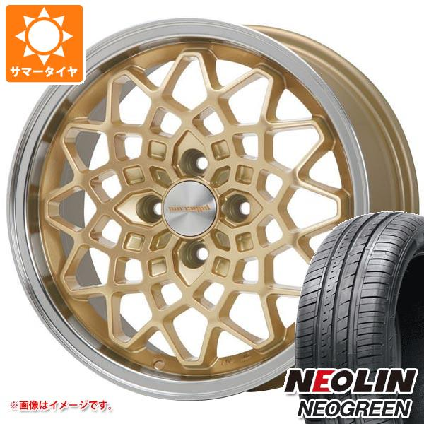 サマータイヤ 165/55R14 72H ネオリン ネオグリーン ハイペリオン カルマ GD 5.0-14 タイヤホイール4本セット