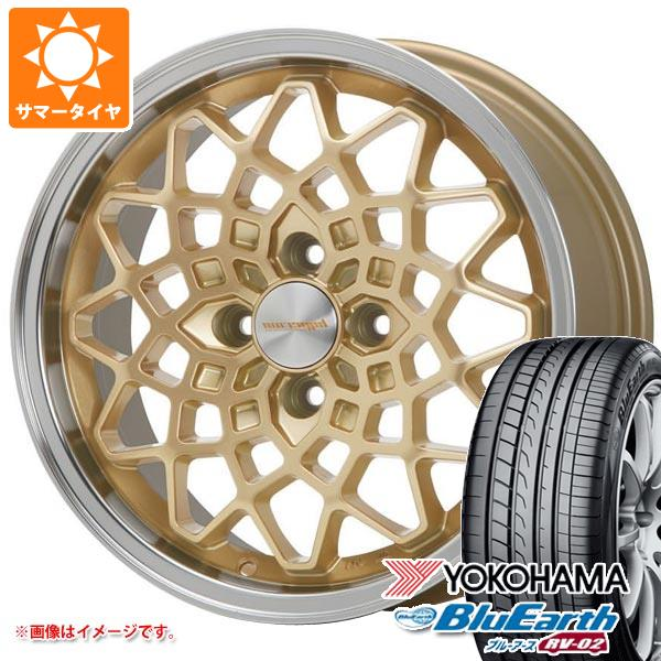 サマータイヤ 155/65R14 75H ヨコハマ ブルーアース RV-02CK MLJ ハイペリオン カルマ GD 5.0-14 タイヤホイール4本セット