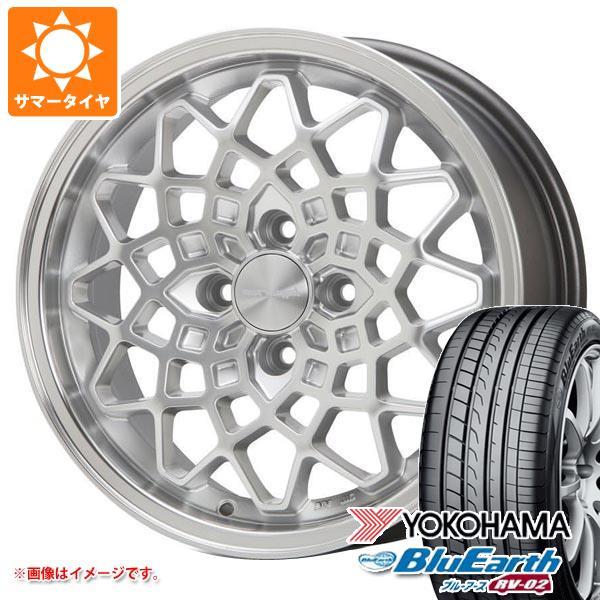 サマータイヤ 155/65R14 75H ヨコハマ ブルーアース RV-02CK MLJ ハイペリオン カルマ SL 5.0-14 タイヤホイール4本セット